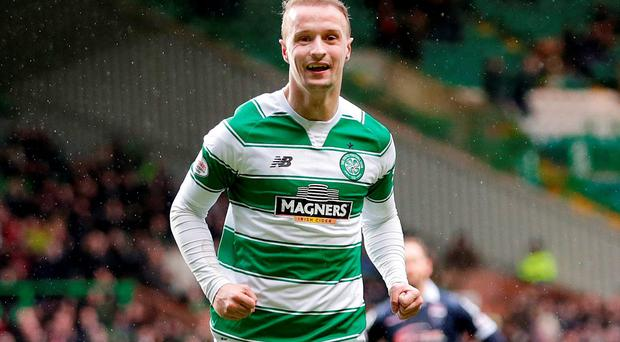 The mood, however, changed when Griffiths got it right in first-half stoppage time when he volleyed his 30th goal of the campaign Photo: Reuters