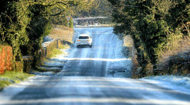 Drivers have been warned to take care on icy roads