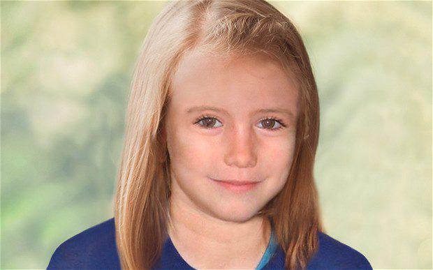 A computer generated image of how Madeleine McCann might look today