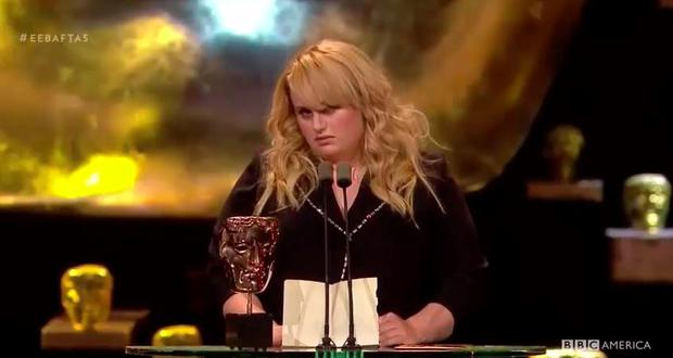 Rebel Wilson makes hilarious speech as she presents Best Supporting Actor at the BAFTAs