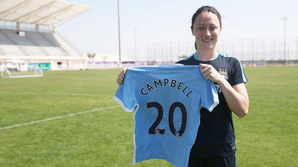 Ireland's Megan Campbell has joined Manchester City