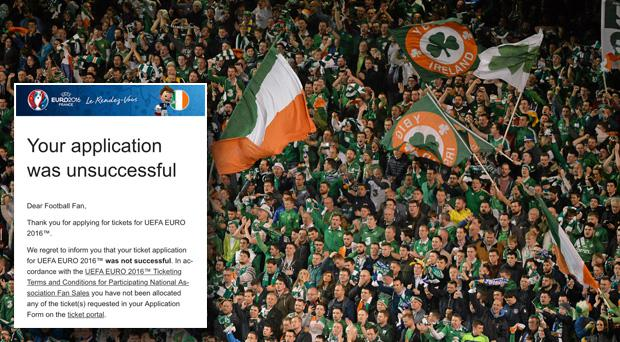 A lot of Ireland fans have been left disappointed