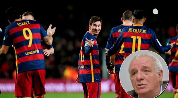Eamon Dunphy was not impressed with Lionel Messi's two-player penalty