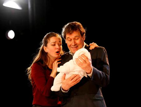 Stephen Rea and Amy Molloy in 'Cyprus Avenue' at the Abbey Theatre. Photo: RollingNews.ie
