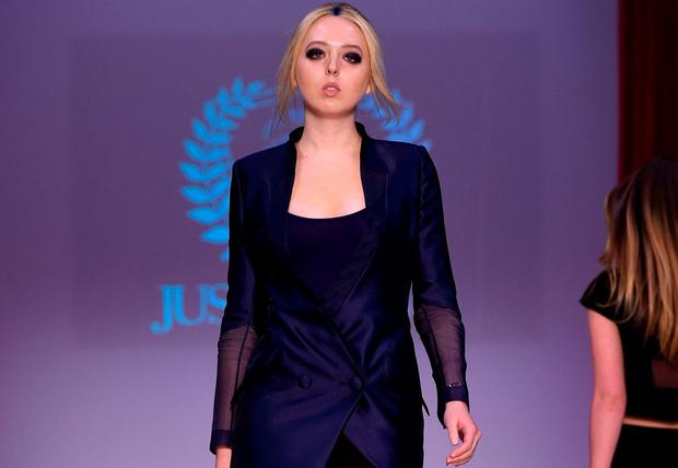 Tiffany Trump walks the runway during Just Drew fashion week at Gotham Hall on February 14, 2016 in New York City. (Photo by Jacopo Raule/Getty Images)