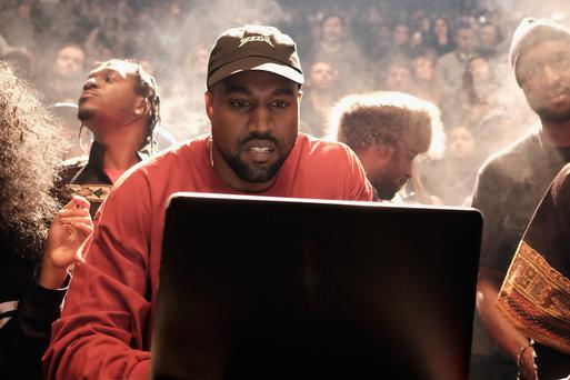 Kanye West asks 'white publications' to refrain from commenting on black music. (Photo by Dimitrios Kambouris/Getty Images for Yeezy Season 3)