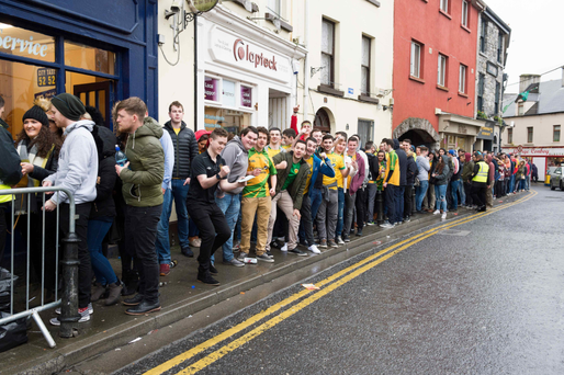 Students in Galway for 'Donegal Tuesday'.