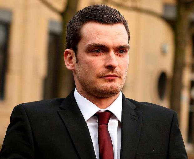 Former Sunderland soccer player Adam Johnson leaves Bradford Crown Court in Bradford, northern England February 12, 2016