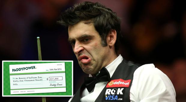 Will Ronnie turn down the chance for £61,000