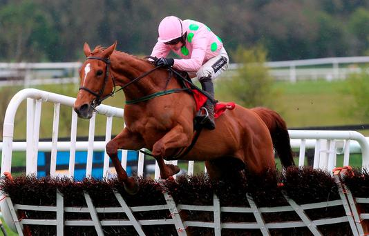Annie Power, ridden by Ruby Walsh, makes her seasonal reappearance at Punchestown today. Photo: Niall Carson/PA.