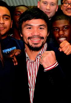 Manny Pacquiao sparked controversy in a television interview. See PA story BOXING Pacquiao. Photo: John Stillwell/PA.