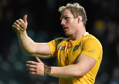 Australia's David Pocock is being persued by Wasps. Photo: Ramsey Cardy / Sportsfile.