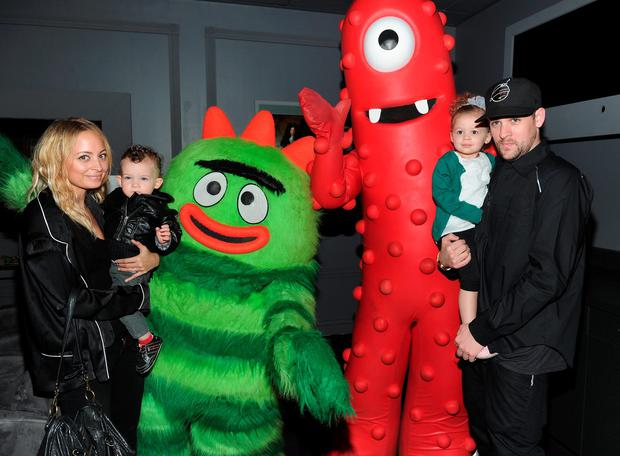 TV personality Nicole Richie, Sparrow Madden, Harlow Madden and musician Joel Madden attend Yo Gabba Gabba! Live! There's A Party In My City at Nokia L.A. Live on November 27, 2010 in Los Angeles, California. (Photo by Alberto E. Rodriguez/Getty Images)
