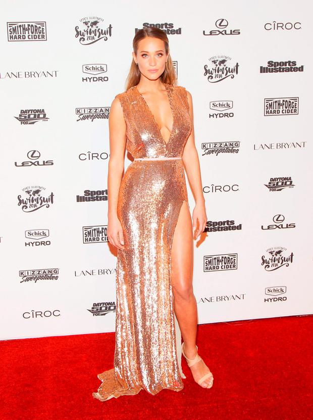 Model Hannah Davis attends the Sports Illustrated Celebrates Swimsuit 2016 at Brookfield Place on February 16, 2016 in New York City. (Photo by Bennett Raglin/Getty Images)