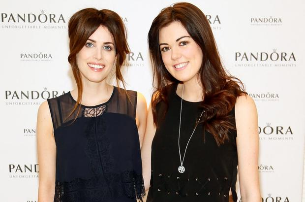 Holly White and Ciara Halley at the PANDORA Spring Summer '16 Media Lunch which celebrated the launch of the stunning new season collection, held at PANDORA's flagship store on Grafton Street. Picture: Kieran Harnett