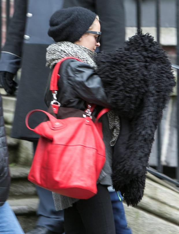 Nicole Richie pictured leaving The Merrion Hotel. Picture: Kyran O'Brien