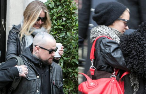 (Left) Cameron Diaz and husband Benji Madden and (Right) Nicole Richie pictured leaving The Merrion Hotel. Picture: Kyran O'Brien