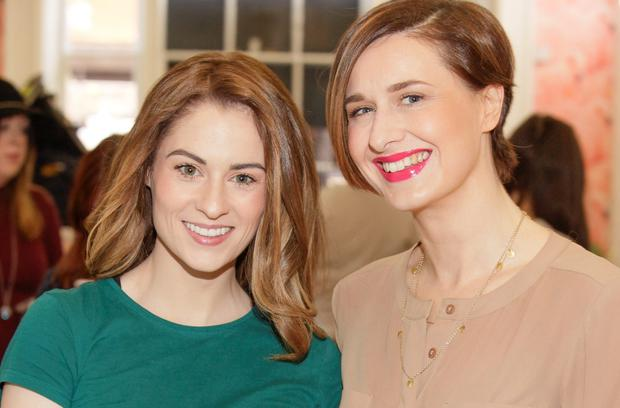 Madeline Mulqueen and Roxanne Parker at the ALEX AND ANI Ring Launch in Tropical Popical, South William Street, Dublin 2