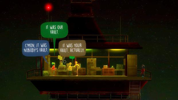 Oxenfree: branching dialogue