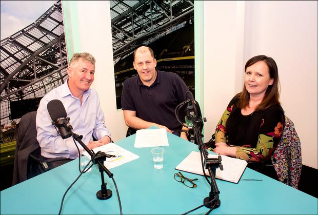 Jo Collins, MD of Sales Performance Consulting & Training and Paul Fagan, MD of Business Coaching Ireland, join presenter Brian Purcell.
