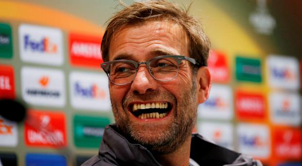 Liverpool manager Jurgen Klopp during the press conference