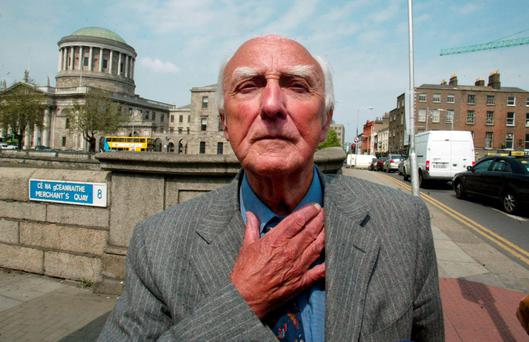 George Redmond in 2008 after he was cleared of receiving an illegal payment. Photo: Collins