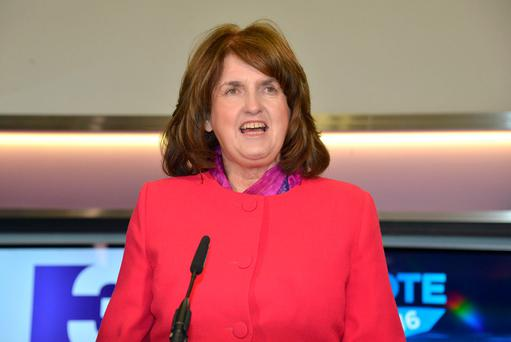 Tanaiste and Labour Party Leader Joan Burton. Photo: Barbara Lindberg.