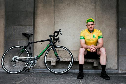 'The whole buzz of the race, it sucks you in and it's got that legend behind it': Martyn Irvine at Dublin Castle yesterday for the launch of the 2016 An Post Rás: INPHO/ Billy Strickland