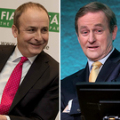 Micheál Martin (left) and Enda Kenny (right)