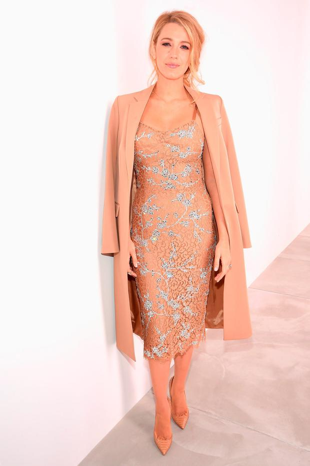 Actress Blake Lively poses backstage at the Michael Kors Fall 2016 Runway Show during New York Fashion Week: The Shows at Spring Studios on February 17, 2016 in New York City. (Photo by Dimitrios Kambouris/Getty Images For Michael Kors)