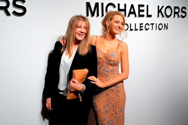 Elaine Lively (L) and Actress Blake Lively pose backstage at the Michael Kors Fall 2016 Runway Show during New York Fashion Week: The Shows at Spring Studios on February 17, 2016 in New York City. (Photo by Nicholas Hunt/Getty Images for Michael Kors)
