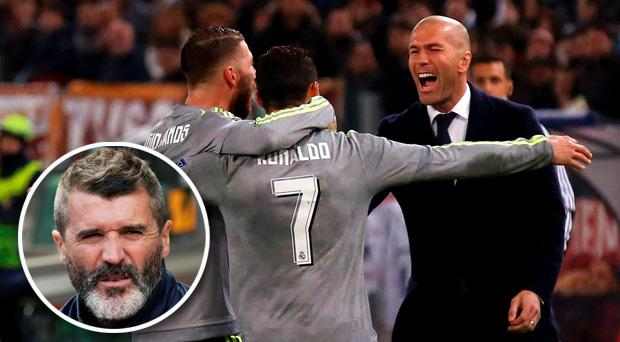 Roy Keane was commenting on Real Madrid's 2-0 victory over Roma