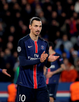 Paris Saint-Germain's forward Zlatan Ibrahimovic (Getty Images