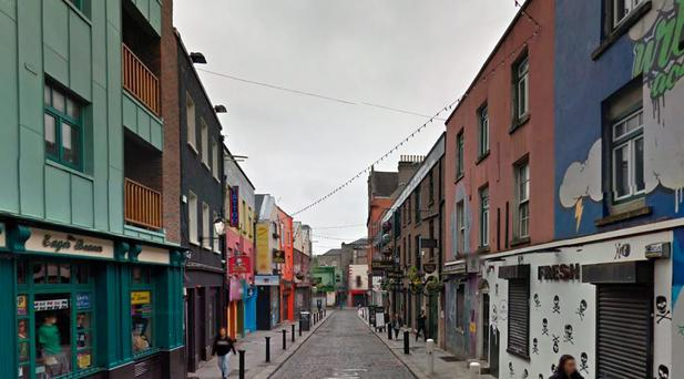Robbery took place at Crown Alley, Temple Bar, Dublin (Photo: Google Maps)