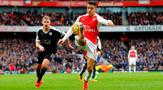 Both Özil and Sanchez (pictured) are expected to be rested by Arsenal today when – for the third consecutive year – they face Hull City in the FA Cup. Photo: Reuters
