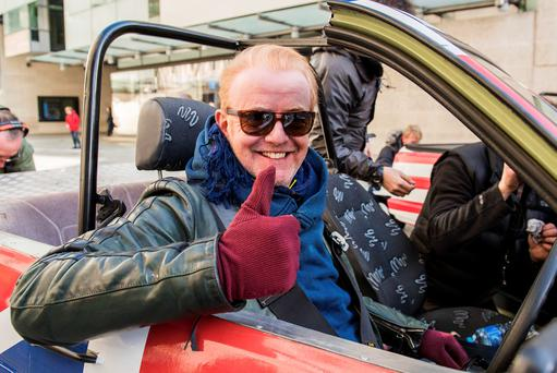 Chris Evans and Matt LeBlanc's first challenge is a battle between the UK and the USA. Photo: Mark Yeoman