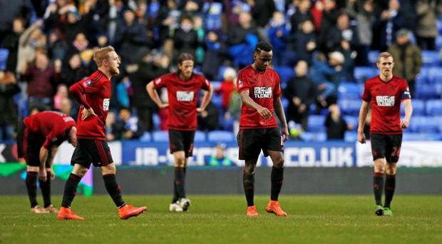 West Brom's Saido Berahino looks dejected after the game