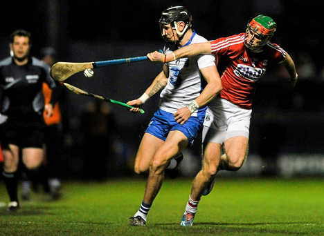 Maurice Shanahan in action against Stephen McDonnell. Cork. Picture credit: Eóin Noonan / SPORTSFILE
