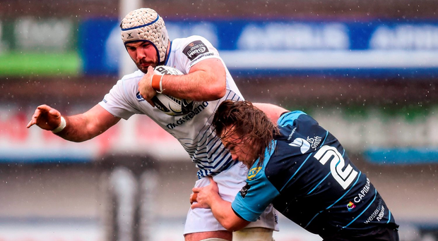 Leinster's Mick Kearney is tackled by Cardiff's Kristian Dacey Photo: Stephen McCarthy / SPORTSFILE