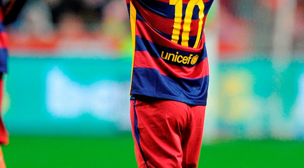 Lionel Messi produced a moment of magic from the penalty spot Photo: Denis Doyle/Getty Images
