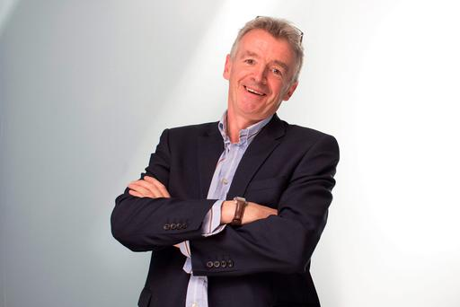 FLYING: Michael O'Leary in billionaire club for first time. Photo: Matthew Lloyd/Bloomberg