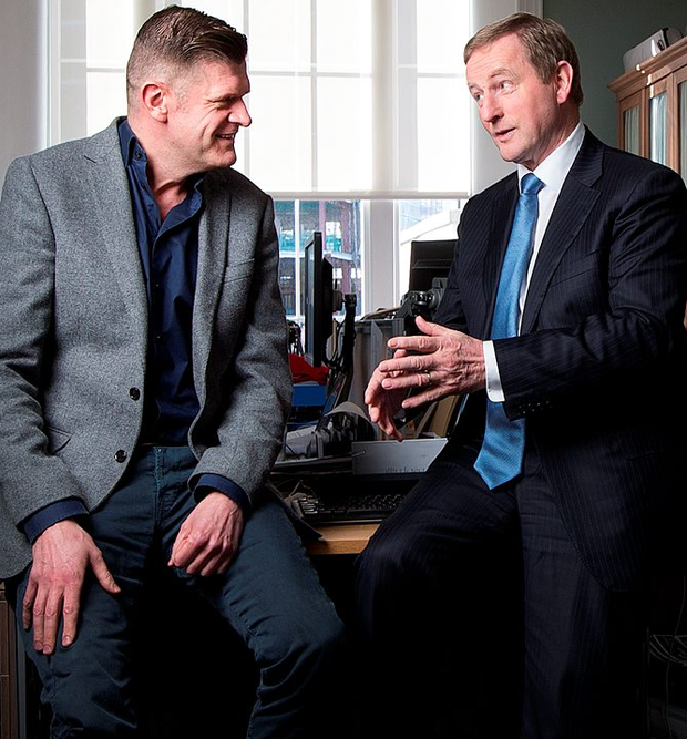Enda Kenny has a frank and emotional conversation with Brendan O'Connor Photo: David Conachy