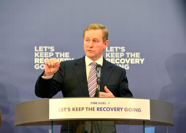 'If Fine Gael plans to inject more passion into its campaign ahead of polling day, it appears its leader will be shooting from the hip and the lips' Photo: Barbara Lindberg.