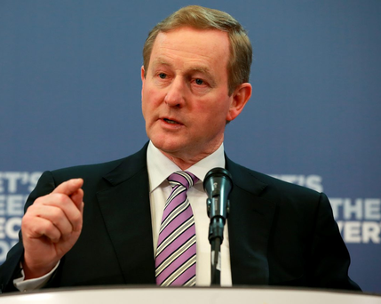Enda Kenny will embark on 'a whistle stop tour' of marginal constituencies on Wednesday for a 'high energy 48 hour canvass' Photo: Frank Mc Grath