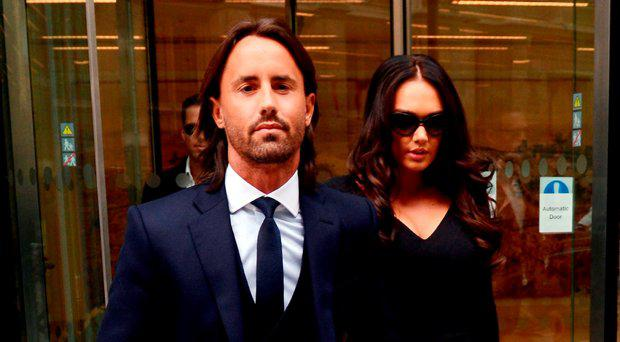 File photo dated 22/04/13 of Tamara Ecclestone with husband Jay Rutland, who has been charged with assisting an offender