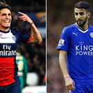 PSG striker Edinson Cavani and Leicester City's Riyad Mahrez