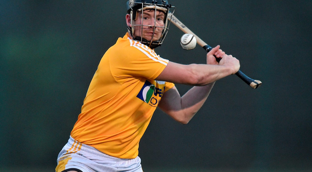 Kevin McKernan opened the Saffrons' account and Antrim soon stretched into a 0-4 to no score lead. Photo: Sportsfile