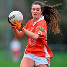 Aimee Mackin has been described by experienced midfielder Caroline O'Hanlon as a 'phenomenal talent'. Photo: Sportsfile