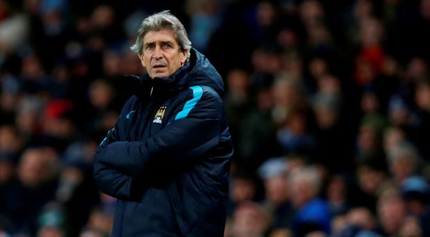 City manager Pellegrini started with six teenagers at Stamford Bridge and saw his young team thrashed 5-1 by Chelsea ahead of the Champions League trip to Dynamo Kiev. Photo: Reuters