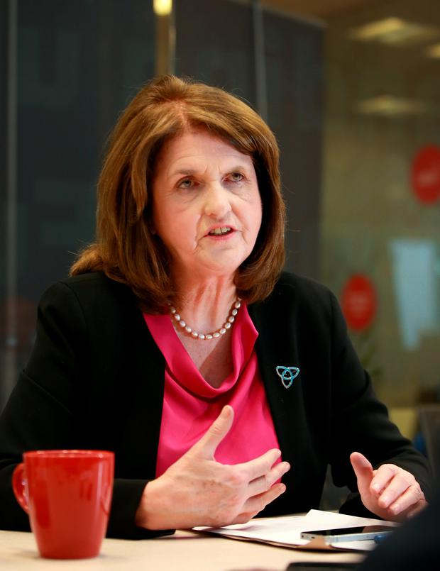 """Labour Party Leader Joan Burton has warned against a 'grand coalition', saying: """"I don't think that option will last for very long."""